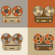 Retro reel to reel tape recorder icon — Stock Vector