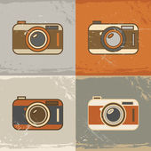 Camera icons — Vettoriale Stock