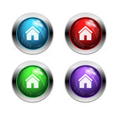 Shiny home buttons — Stock Vector