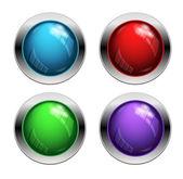 闪亮矢量按钮 — 图库矢量图片