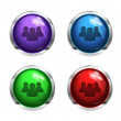Social network glossy buttons — Stock Vector