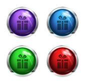Blanka gåva rutan knappar — Stockvektor