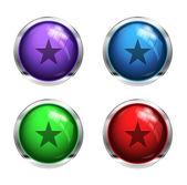 光沢のあるスタート ボタン — ストックベクタ