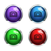 GLossy camera buttons — Stock Vector