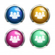Shiny forum - chat buttons — Stock Vector
