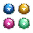 Vector star buttons — Stock Vector