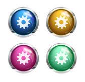Vector settings cogwheel button — Stock Vector