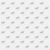 Gray and white reindeer background — Stock Vector