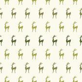 Seamless cartoon deer background — Stock Vector