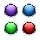 Abstract empty glossy buttons — Stock Vector