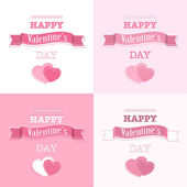 Pink Valentine's day background — Stock Vector