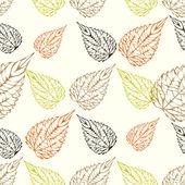 Bezszwowe jesienią liście — Wektor stockowy