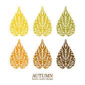Autumn vector leaves — Wektor stockowy