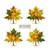 Autumn vector leaves — Stockvektor