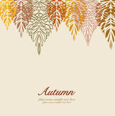 Autumn vector leaves background — Stock Vector