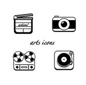 Minimalistic arts icons — Stock Vector