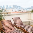 Lounger of the roof terrace — Stock Photo