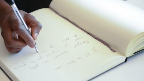 Escribir a mano — Vídeo de stock
