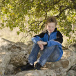 Youngster resting in nature — Stock Photo