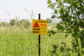 Minefield consequences of Arab Israeli war — Stock Photo