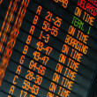 Schedule of flights departures — Stock Photo