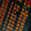Stock Photo: Schedule of flights departures