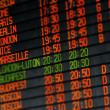 Foto de Stock  : Departures and arrivals electronic schedule
