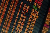 Schedule of flights departures — Foto de Stock