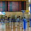Empty hall in Israeli airport Ben Gurion on Saturday (Shabbat) — Stock Photo
