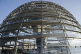 Glass cupola on Reichstag building — Stock Photo