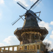 Traditional European architecture: old wind mill — Stock Photo