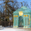 Trellised pavilion in park of royal palace Sanssouci — Stock Photo