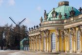 Königliche Schloß Sanssouci in potsdam — Stockfoto