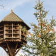 Stock Photo: Handmade wooden birdhouse