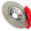 Assembled caliper disc and pads of car brake system — Stock Photo #40903951