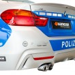 Back view of new modern model BMW German police patrol car — Stock Photo #41221469