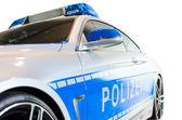 Nuovo modello moderno della pattuglia di polizia tedesca città — Foto Stock