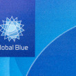 "Stock Photo: Close up logo ""Global Blue"" on plastic card"