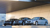 New collection of powerful BMW 535 business and family classes — Stock Photo