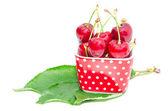 Natural organic summer nutrition big ripe cherry berry — Stock Photo