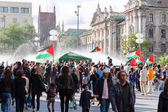 Palestinian demonstration in the center of a major European city — Stock Photo