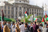 Anti-war rally in support of the Palestinian people — Stock Photo