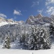 "Stock Photo: Dolomites Mountains in Winter - ""Stevia, ForcellLPiza"""