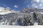 "Dolomites Mountains in Winter - ""Stevia, Forcella La Piza"" — Stock Photo"