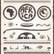 Africa Design Elements — Stock Vector #14329769