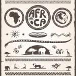 Africa Design Elements — Stock Vector
