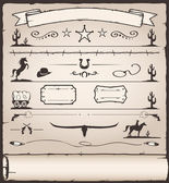 Design Elements Wild West — Stock Vector