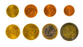 Euro coins set — Stock Photo