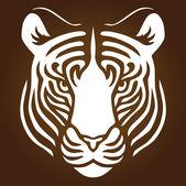 Tiger Portrait — Stock Vector