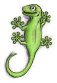 Green Gecko — Foto de Stock